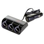 Wine USB & Triple Socket With Led - Разветвитель прикуривателя на 3 гнезда + USB