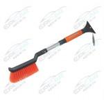 Щетка для снега со скребком Autoluxe AL-119 телескопическая 55-65 см, серый-оранжевый