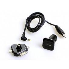 I-Pop 4 Way Charger - Автомобильная зарядка для телефона универсальная, 4 штекера, разъем USB