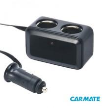 Carmate 2 Way Socket - Разветвитель прикуривателя на 2 гнезда (шнур)