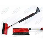 Щетка для снега со скребком, телескопическая ручка, поворотная голова, 80-120 см