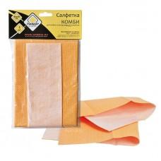 Салфетка «КОМБИ» для мойки и полировки автомобиля Главдор, 40х50 см