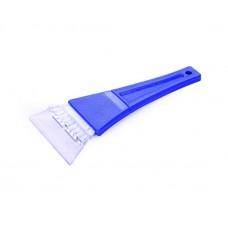 Скребок для уборки снега и льда Clingo, 11х23 см, с пластиковой ручкой, синий