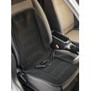 Накидка с подогревом на переднее сиденье iSky Africa, велюр, датчик защиты от перегрева, 90х45 см, 12 V, черная