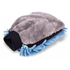 Варежка для мытья автомобиля Clingo, 24,5x17 см, микрофибра с ворсом, шиншилла