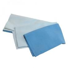 Набор салфеток для полировки Clingo, 2 шт., 40х40 см, микрофибра, гладкая, голубой