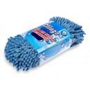 Губка для мытья автомобиля Clingo, 25x12,5x7,6 см, односторонняя, шиншилла, голубой