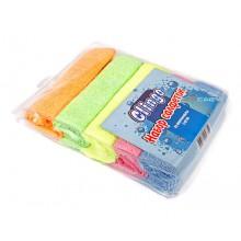 Набор микрофибры для ухода за автомобилем Clingo, 5 шт., 35х30 см, 5 цветов