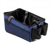 Органайзер на сиденье в салон авто, переносной, iSky, полиэстер, 30х20х19 см, синий