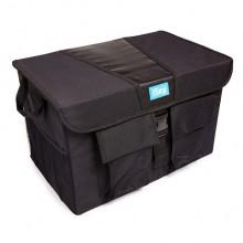 Органайзер с крышкой в багажник iSky, полиэстер, 50x31x31 см, черный, 50л