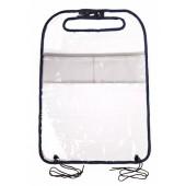 Защитный органайзер на спинку сидения iSky, ПВХ, 58x44 см, прозрачный