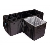 Органайзер в багажник iSky, полиэстер, 80x31x30,5 см + с термосекцией 30х30х30 см, черный, 102л