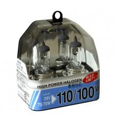 H4 24V 75/70W (110/100W) 3900K галогенные лампы Koito WhiteBeam P0591, 2 шт