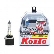 H27/1 12V 27W (55W) 4000K галогенные лампы Koito WhiteBeam P0728W, 2 шт