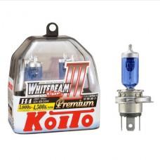 H4 12V 60/55W (135/125W) 4500K галогенные лампы Koito WhiteBeam Premium P0744W, 2 шт