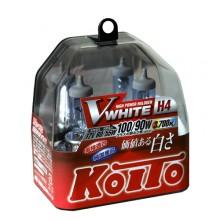 H4 12V 60/55W (100/90W) 3700K галогенные лампы Koito WhiteBeam P0746W, 2 шт