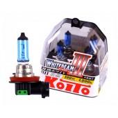 H11 12V 55W (100W) 4000K галогенные лампы Koito WhiteBeam P0750W, 2 шт