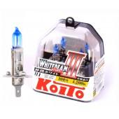 H1 12V 55W (100W) 4200K галогенные лампы Koito WhiteBeam P0751W, 2 шт
