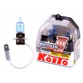 H3 12V 55W (100W) 4000K галогенные лампы Koito WhiteBeam P0752W, 2 шт