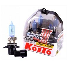 HB3 (9005) 12V 65W (120W) 4200K галогенные лампы Koito WhiteBeam P0756W, 2 шт