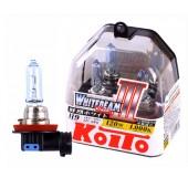 H9 12V 65W (120W) 4000K галогенные лампы Koito WhiteBeam P0759W, 2 шт