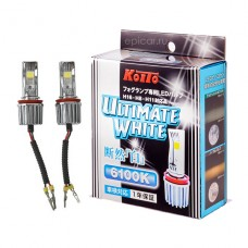 H16 (H8, H11) LED 12V 7W 6100K светодиодные лампы Koito LED Ultimate White P216KW, 2 шт