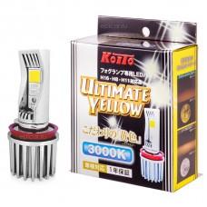 H16 (H8, H11) LED 12V 7W 3000K светодиодные лампы Koito LED Ultimate White P216KY, 2 шт