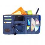 Органайзер - мульти карман на козырек автомобиля Point Pocket (+ для CD-дисков), темно-синий
