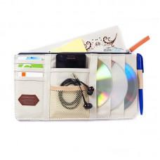 Органайзер - мульти карман на козырек автомобиля Point Pocket (+ для CD-дисков), айвори