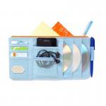 Органайзер - мульти карман на козырек автомобиля Point Pocket (+ для CD-дисков), голубой