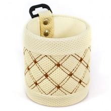 Подвесная корзиночка для телефона и мелочей AM-08 круглая, светлая