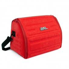 Органайзер сумка Sotra 3D Lux Small в багажник, 46x30x31 см, малый красный