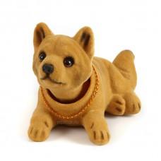 Игрушка на панель авто - Собака, качающая головой, Сиба-Ину