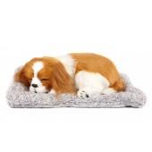 Игрушка спящая собака Кинг-чарльз-спаниель с бамбуковым углем в салон автомобиля