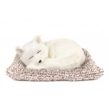 Игрушка спящая лисичка белая с бамбуковым углем в салон автомобиля