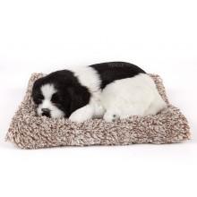 Игрушка спящая собака черно-белая с бамбуковым углем в салон автомобиля
