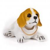 Игрушка на панель авто - Собака, качающая головой, Бигль