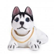Игрушка на панель авто - Собака, качающая головой, Хаски