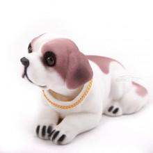 Игрушка на панель авто - Собака, качающая головой, Сенбернар