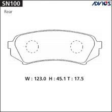 Дисковые тормозные колодки ADVICS SN100