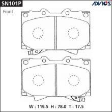 Дисковые тормозные колодки ADVICS SN101P