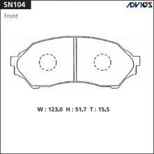 Дисковые тормозные колодки ADVICS SN104