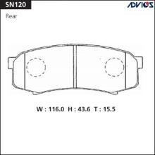 Дисковые тормозные колодки ADVICS SN120
