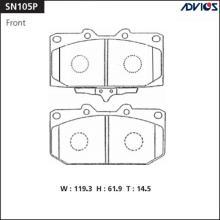 Дисковые тормозные колодки ADVICS SN105P
