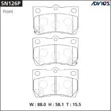 Дисковые тормозные колодки ADVICS SN126P