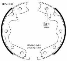 Колодки тормозные барабанные Double Force DFS8308