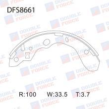 Колодки тормозные барабанные Double Force DFS8661