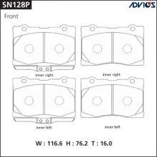 Дисковые тормозные колодки ADVICS SN128P