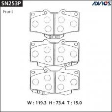 Дисковые тормозные колодки ADVICS SN253P