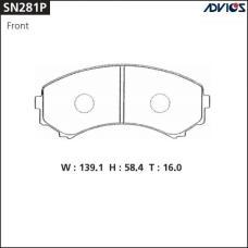 Дисковые тормозные колодки ADVICS SN281P